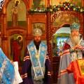 Митрополит Тихон и епископ Филипп  молились у  Иверской иконы  Пресвятой Богородицы на ст. Мочище (видео)