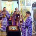 Архиерейская Литургия в Никольском храме р. п. Ордынское в день памяти  прп. Иоанна Лествичника (видео)