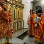 Пасхальное  богослужение в Кафедральном соборе г. Карасука