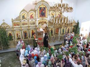 Первая Божественная литургия  в Кафедральном соборе Карасукской епархии (видео)