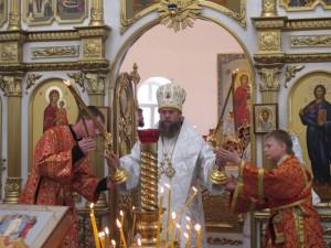На Преображение Господне Преосвященный епископ  Филипп возглавил Литургию в Кафедральном соборе Карасукской епархии (видео)