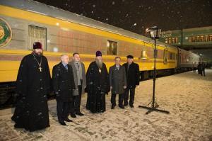 Храм на рельсах. Поезд «За духовное возрождение России» в Карасукской епархии.