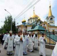 Вознесение Господне. Престольный праздник в Вознесенском кафедральном соборе г. Новосибирска