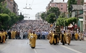 Более 30 тысяч паломников принимают участие в Великорецком крестном ходе