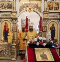 Дружественный визит епископа Феодосия в Карасукскую епархию на престольный праздник  св. апостола Андрея Первозванного (видео)