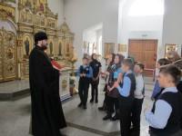 Экскурсия школьников по Кафедральному собору г. Карасука