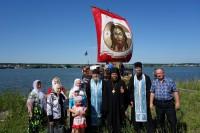 В Карасукской епархии  встретили экспедицию с  Иверской иконой Пресвятой Богородицы (видео)