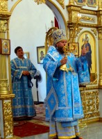 Архиерейское служение в Кафедральном соборе г. Карасука