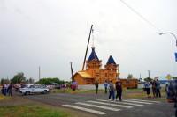 Освящение куполов и крестов   для нового  храма  во имя св. Бориса и Глеба в с. Багане