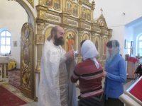 Литургия в Кафедральном соборе г. Карасука  в  день памяти Архистратига Божия Михаила