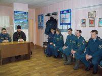 Встреча священнослужителя с пожарными в с. Звдинске