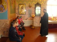 Беседа с учащимися в храме во имя св. апостола Луки  г. Купино