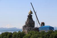 Камчатский морской собор увенчан куполом с крестом