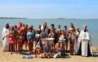 Крещение детей в детском лагере «Лесная поляна» в с. Благодатном Карасукского района (видео)
