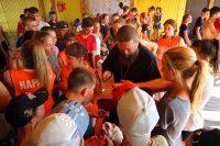 Встреча епископа Филиппа с детьми детского лагеря «Лесная поляна» в селе Благодатном