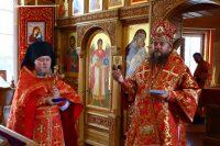 Архиерейское служение на престольный праздник в селе Ивановке