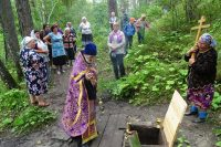 Богослужение в ордынском храме в первый день Успенского поста