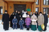 Игумения Мария с сестрами Михаила-Архангельского женского монастыря поздравили епископа Филиппа с  праздником Рождества Христова