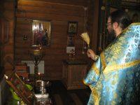 Ночная литургия в Рождественский сочельник в селе Верх-Каргате