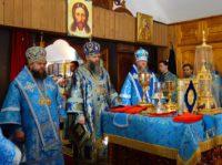 Три архиерея в день праздника у чудотворной иконы Пресвятой Богородицы «Иверская»