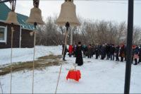 Секретарь Карасукской епархии иерей Антоний освятил новые колокола для храма в с. Белом