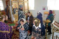 Архиерейская Литургия в Великую среду в селе Мироновке Баганского района