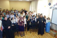 Епископ Филипп поздравил детей Мошковcкой школы-интерната с Пасхой Христовой