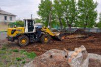 Освящение места под строительство нового  храма и реконструкции здания Епархиального управления в г. Карасуке