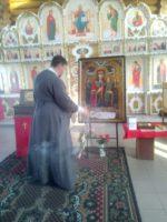 Крестный ход со святынями в с. Багане