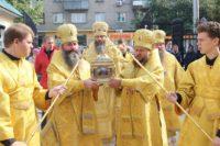 Епископ Филипп принял участие в торжествах по случаю принесения в г. Новосибирск ковчега с частицей мощей святителя Спиридона Тримифунтского