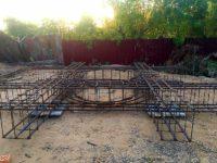 Залито 42 тонны бетона под купол нового храма в г. Карасуке