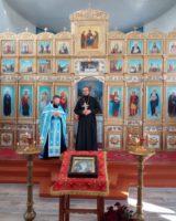 Первая встреча нового настоятеля здвинского храма иерея Андрея Крашенинникова с его прихожанами и главой района