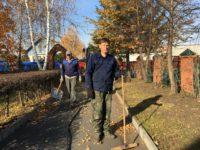 Уборка территории храма во имя прп. Сергия Радонежского р. п. Краснозерское