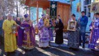 Крестный ход в день празднования Похвалы Пресвятой Богородицы в Никольском храме в  Ордынске