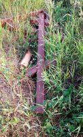 В селе Колыбельском  Краснозерского района  спилены  2 поклонных креста