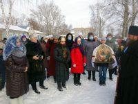 Молебен в строящемся  храме в честь Казанской иконы Божией Матери с. Колыбельское