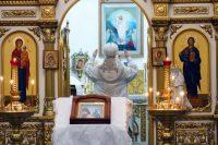Архиерейская литургия в новом 2021 году в Кафедральном соборе г. Карасука