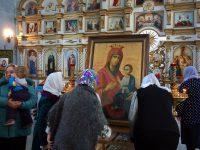Праздник  Иверской иконы Пресвятой Богородицы в Троицком соборе Ордынска (видео)