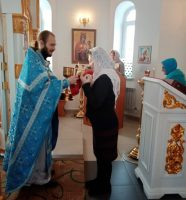 Литургия в  в храме  св. равноапостольного великого князя Владимира г. Карасука в день празднования Иверской иконы Божией Матери