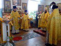 Архиерейская Литургия в храме свт. Николая  в день памяти блаж. Матроны Московской