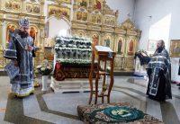 Вынос Плащаницы  Спасителя в Кафедральном соборе г. Карасука