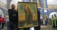 Тридцать восемь городов Белоруссии и Центральной части России прошел крестный ход с мощами Александра Невского