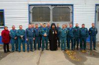 Встреча епископа Филиппа с сотрудниками МЧС в р.п. Ордынское Новосибирской области