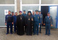Встреча епископа Филиппа с сотрудниками  МЧС  в с. Кочки  Новосибирской области
