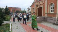 Крестный ход, посвященный 800-летию со дня рождения св. князя Александра Невского, в Кафедральном соборе г. Карасука