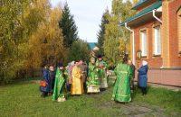 Архиерейский визит в село Довольное  в день памяти прп. Сергия Радонежского