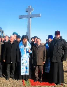 На границе России и Казахстана – Поклонный Крест. (Видео)