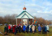 Освящение нового храма в честь Покрова Пресвятой Богородицы в с. Белом Карасукского района (видео)