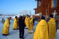 Архиерейская Литургия в день праздника Сретения Господня в Верх-Каргате