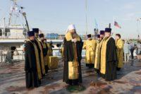 Корабль-церковь «Святой апостол Андрей Первозванный» отправился в очередной рейд по Оби (видео)